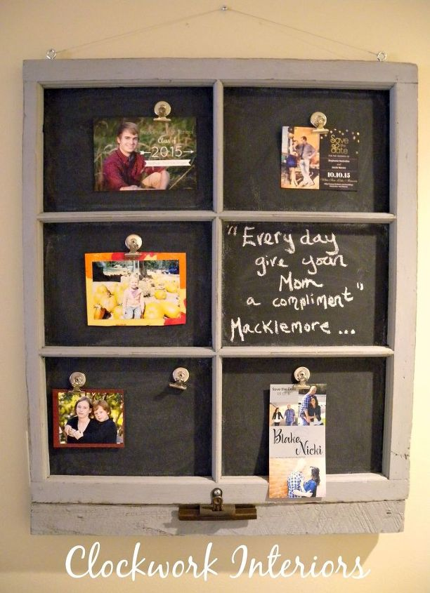Transforming an Old Window Frame Into a Magnetic Chalkboard | Hometalk