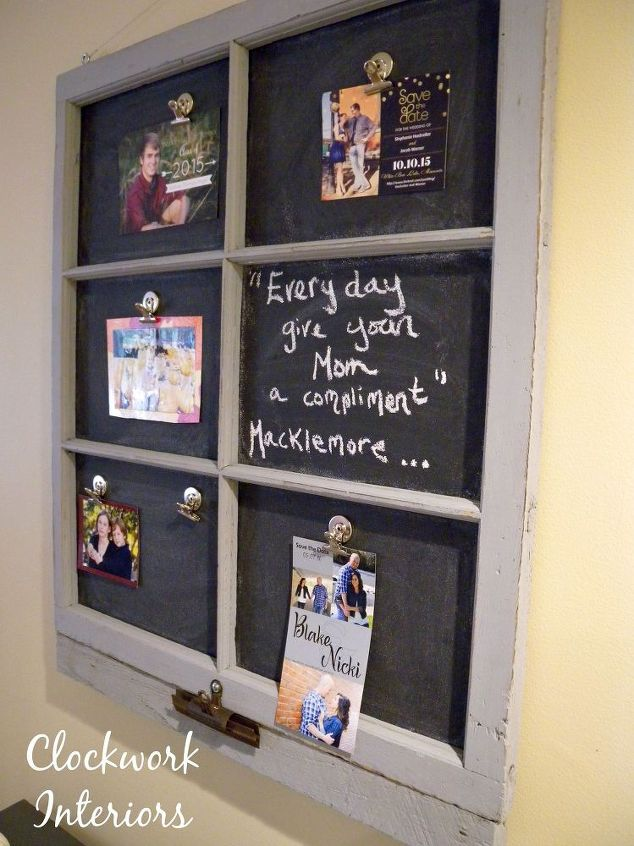 transforming an old window frame into a magnetic chalkboard chalkboard paint crafts repurposing - Window Picture Frame Ideas