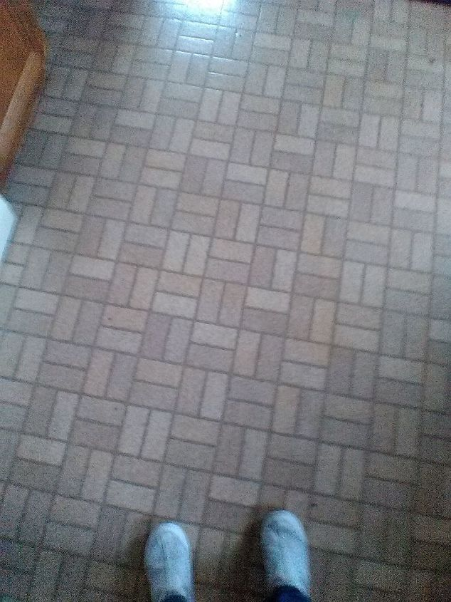 q i painted my vinyl floor i bought a lock down water based epoxy instea, flooring, how to, painting, this is the before help