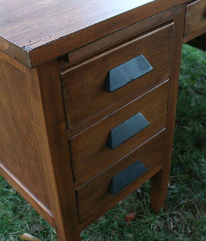 vintage teacher s desk makeover, painted furniture