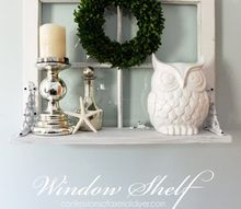 window shelf, repurposing upcycling, shelving ideas, wall decor