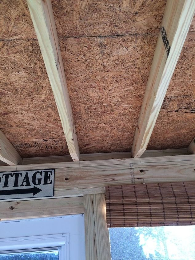 q mdf board under roof on screen porch, diy, home maintenance repairs, how to, porches, roofing, woodworking projects