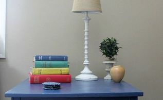 navy painted side table, painted furniture