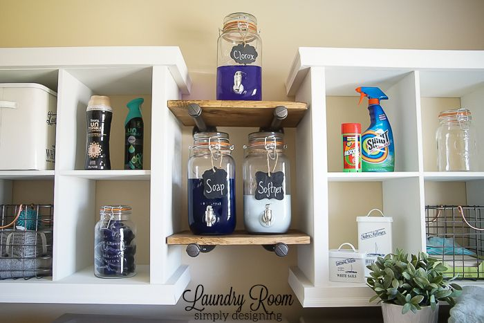 Laundry room shelving makeover hometalk - Laundry room shelving ideas ...