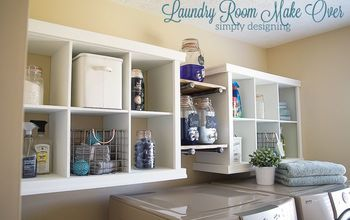 Laundry Room Shelving Makeover