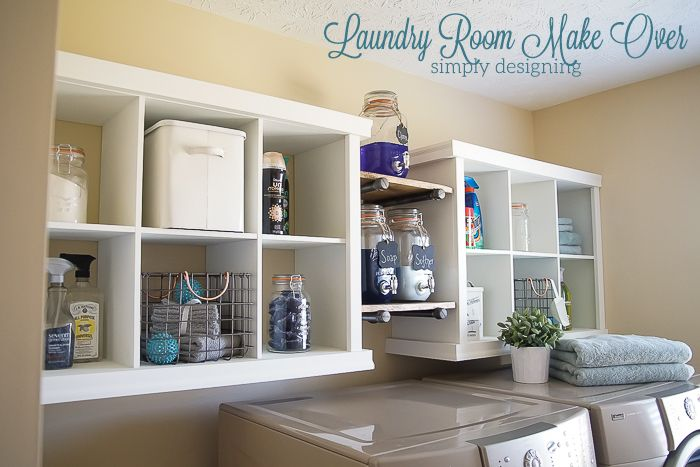 Laundry Room Shelving Makeover Rooms Organizing Ideas