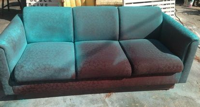 I Spray Painted A Sofa Living Room Ideas Furniture Reupholster