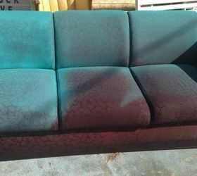 I Spray Painted A Sofa, Living Room Ideas, Painted Furniture, Reupholster