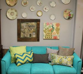 Spray Painted Furniture Ideas Part - 25: I Spray Painted A Sofa, Living Room Ideas, Painted Furniture, Reupholster