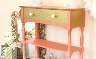 wham bam coral glam, chalk paint, painted furniture