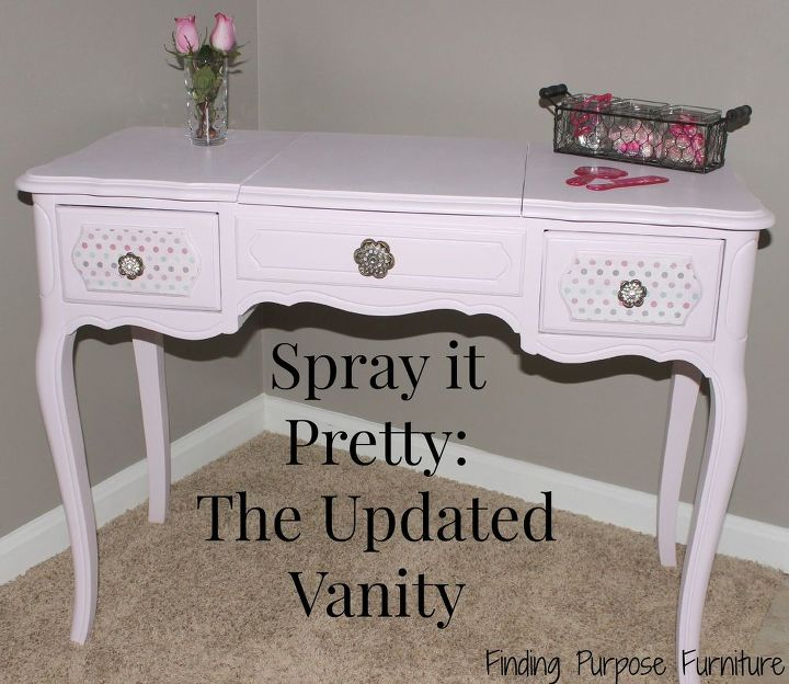 spray it pretty the updated vanity, painted furniture