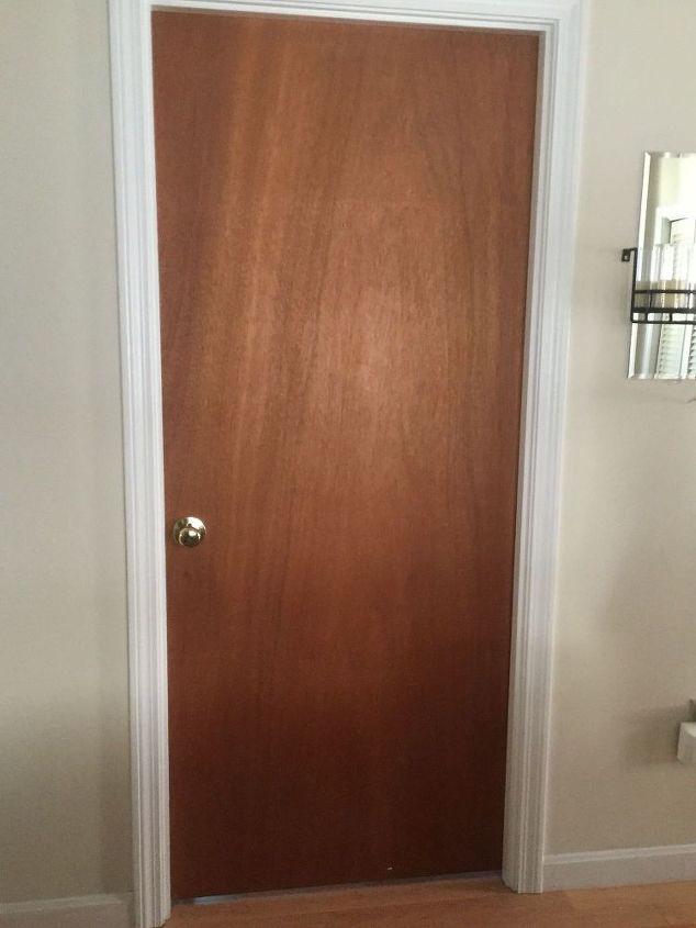 Ugly Slab Door Transformed Mid Century Modern Feel Doors Painting Repurposing Upcycling Size Nocrop Restore Wood