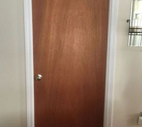 Wood Slab Door & Ugly Slab Door Transformed With a Mid Century Modern Feel | Hometalk
