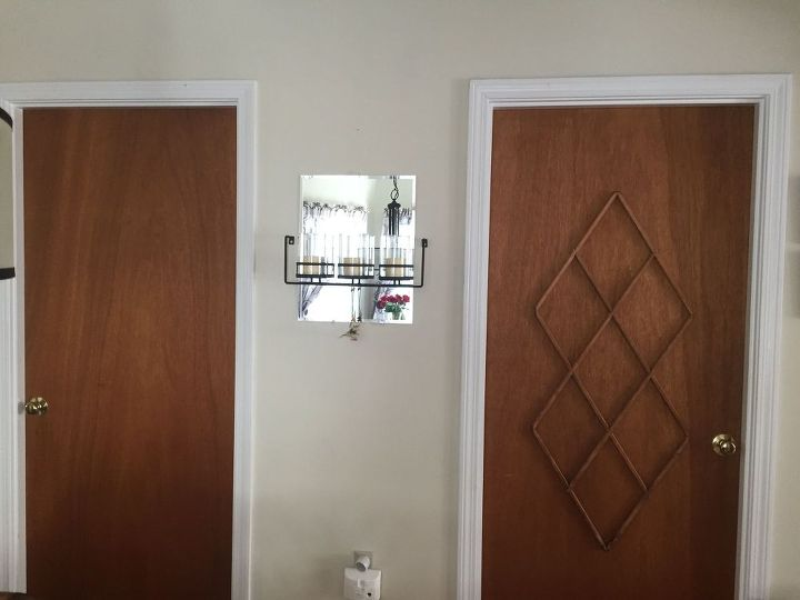 ugly slab door transformed with a mid century modern feel, doors, painting, repurposing upcycling