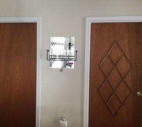 Elegant Ugly Slab Door Transformed With A Mid Century Modern Feel, Doors, Painting,  Repurposing