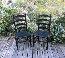 Black Ladder Back Chairs, Painted Furniture
