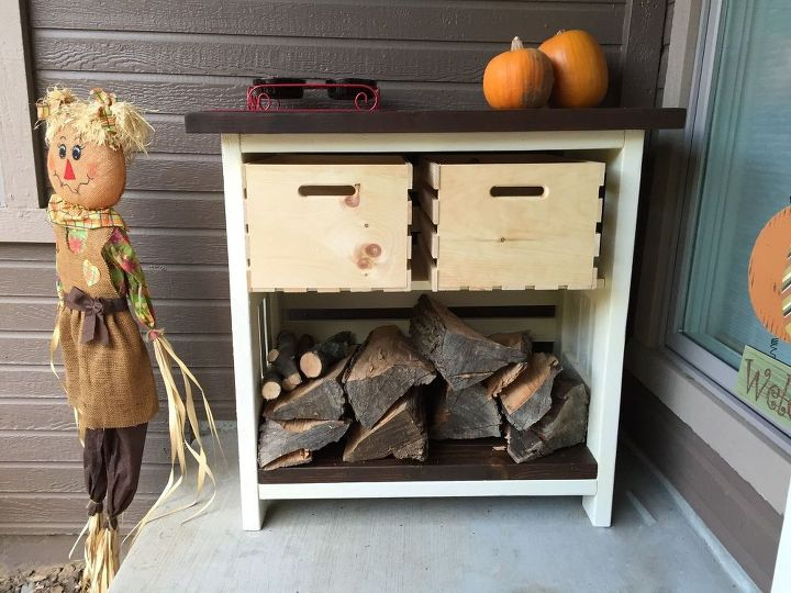 diy firewood and kindling storage, diy, outdoor furniture, rustic furniture, seasonal holiday decor, storage ideas, woodworking projects