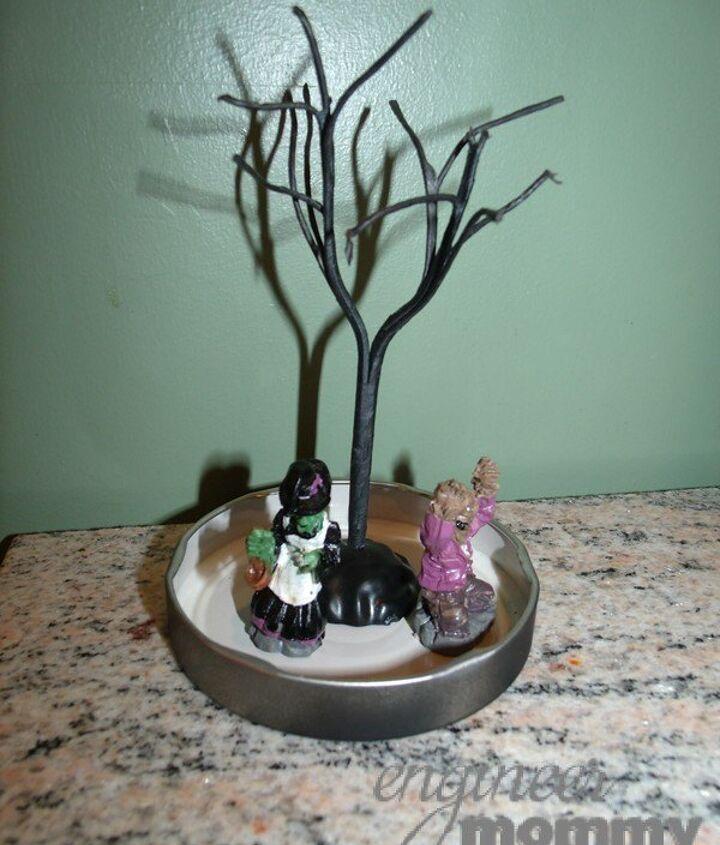 diy halloween mason jar snowglobe, crafts, halloween decorations, mason jars, seasonal holiday decor