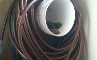 diy hose and sprinkler winter storage, home maintenance repairs, storage ideas