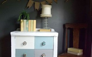 chalk painted chest of drawers before after, chalk paint, painted furniture