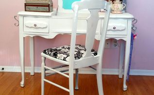 spray it pretty vintage chair w homeright octfabflippincontest, painted furniture, reupholster