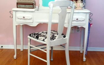 """SPRAY IT PRETTY"" VINTAGE CHAIR W/ HOMERIGHT #octfabflippincontest"
