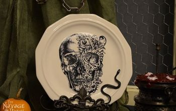 Dishes of Darkness {Pottery Barn Inspired Halloween Plates}