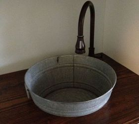 Q Making A Galvanized Tub Into A Sink, Bathroom Ideas, Crafts, Diy,