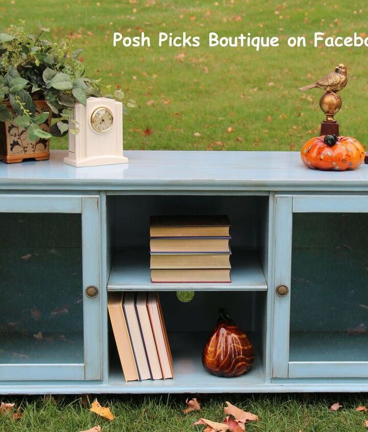 ikea cabinet refreshed with a shabby chic coastal look, painted furniture, shabby chic