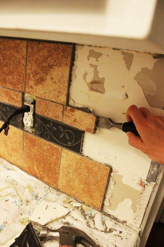 How To Remove A Kitchen Tile Backsplash Hometalk