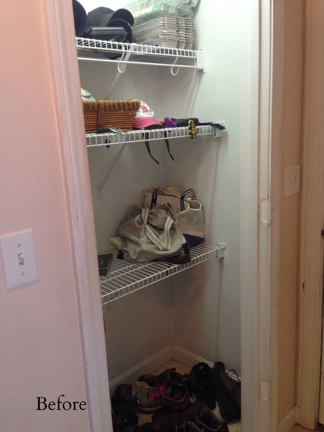 Closet into mudroom makeover for less than 30 hometalk for Cost to build a mudroom