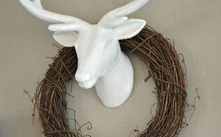 faux deer mount, crafts