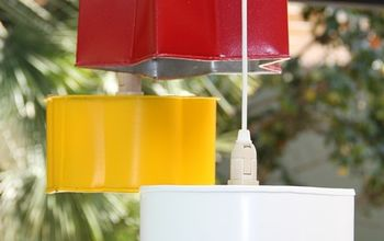 diy pendant light, crafts, diy, how to, lighting, outdoor living, repurposing upcycling