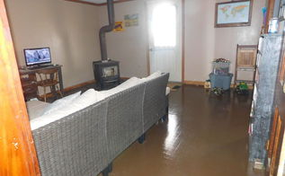 diy painted linoleum, diy, flooring, painting, View from the hall door