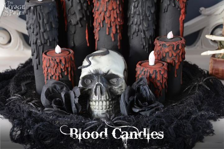 blood candles, crafts, halloween decorations, seasonal holiday decor