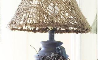 diy woven jute lampshade, crafts, home decor, how to, lighting