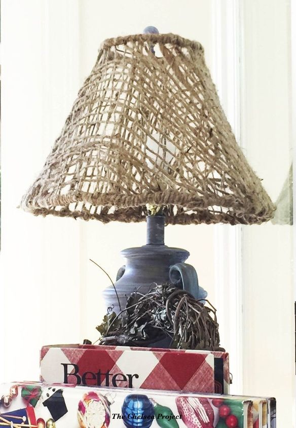 Diy woven jute lampshade made from soil erosion cloth hometalk diy woven jute lampshade crafts home decor how to lighting mozeypictures Images