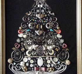 old costume jewelry project crafts repurposing upcycling seasonal holiday decor Christmas tree & Old Costume Jewelry Project | Hometalk