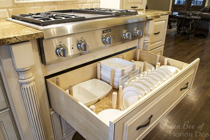 How to dish drawer organizer hometalk for Kitchen cabinets and drawers