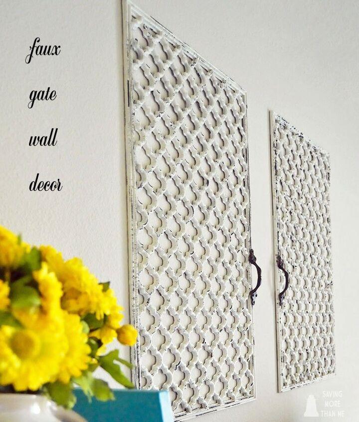 diy faux wall gate, home decor, repurposing upcycling, shabby chic, wall decor