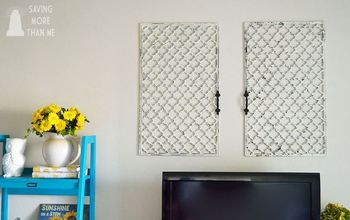 diy faux wall gate, home decor, repurposing upcycling, shabby chic, wall decor