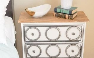 modern industrial nightstand, painted furniture