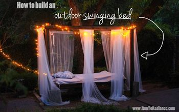 diy swinging outdoor bed, concrete masonry, diy, how to, outdoor furniture, outdoor living