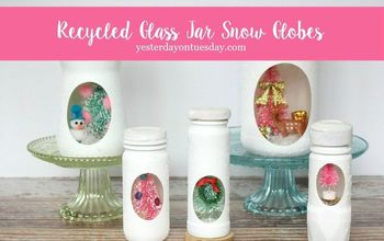 Recycled Jar Snow Globes