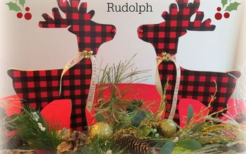 DIY Buffalo Plaid Rudolph