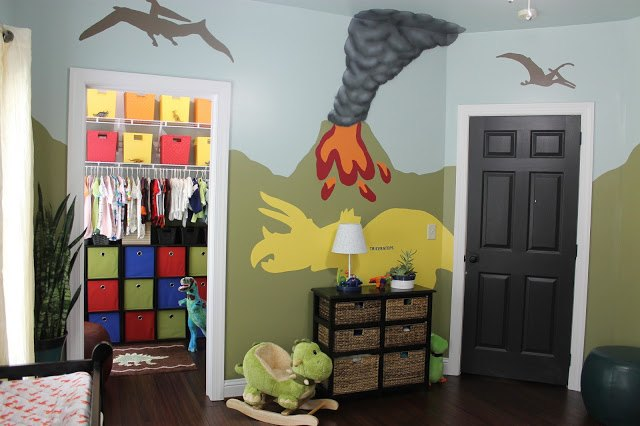 Diy Dinosaur Themed Nursery Bedroom Ideas Home Decor Painting Wall