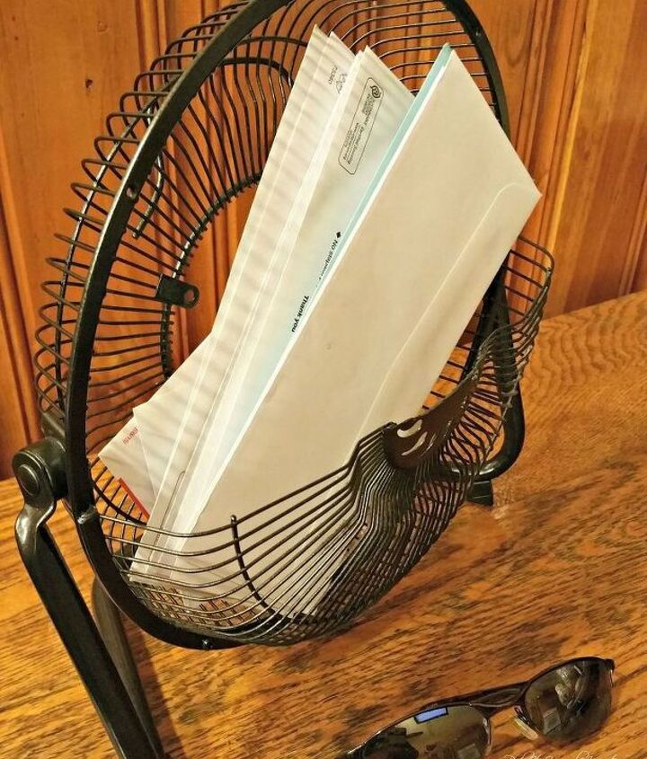repurposed fan mail holder, organizing, repurposing upcycling