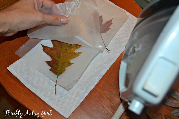 Crafts With Leaves And Wax Paper