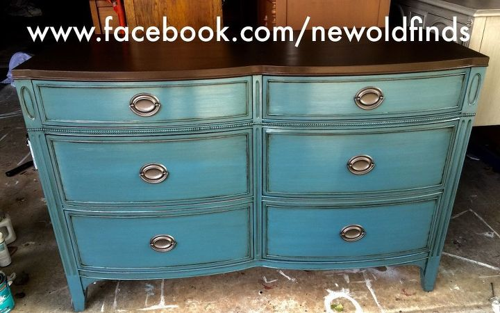 drexel duncan phyfe style dresser makeover love this color, painted furniture