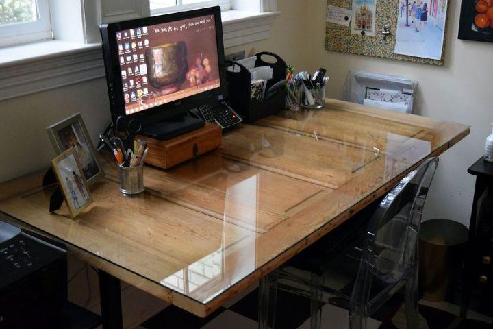 Door To Diy Desk Hometalk